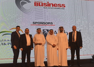 Best Design Award from Arabian Business Real Estate in recognition for the J One Towers